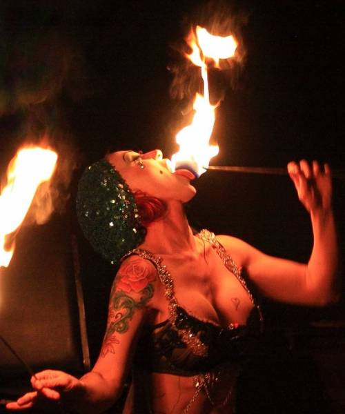 fire eater girl  cropped