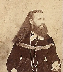 1860's CDV - BEARDED LADY -MT. VERNON, OHIO