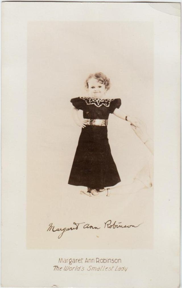 Circus Freak Sideshow   MARGARET ANN ROBINSON WORLDS SMALLEST LADY CIRCUS FREAK 1930s