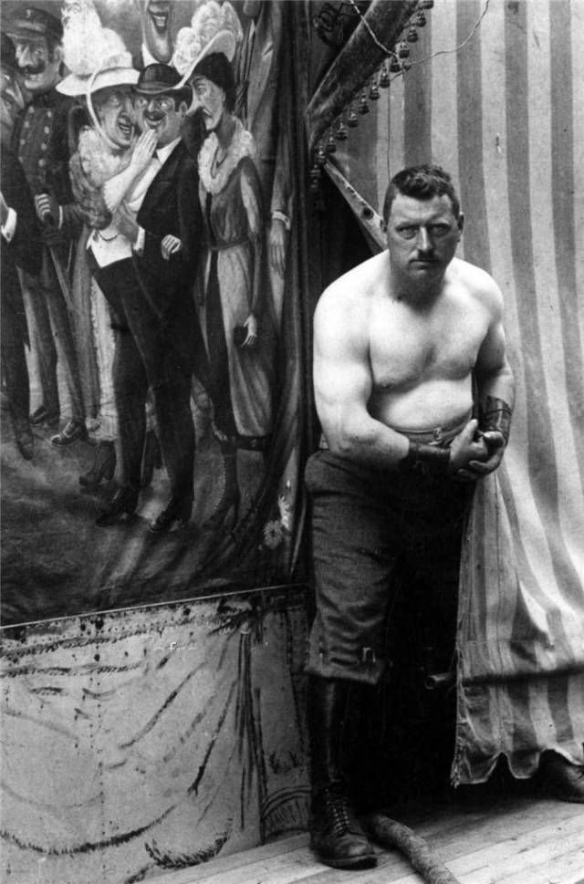 Circus Sideshow Freak Strong Man 1923   adjusted