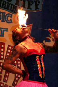 sideshow freaks fire-eater sideshow performer  fire juggler fire show sideshow  circus sideshow   circus performer