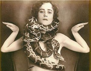 side show freak snake charmer lady  circus sideshow carnival sideshow performer