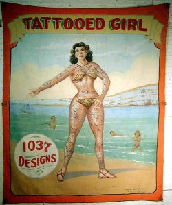 sideshow freaks Tattooed Girl Sideshow Banner sideshow circus