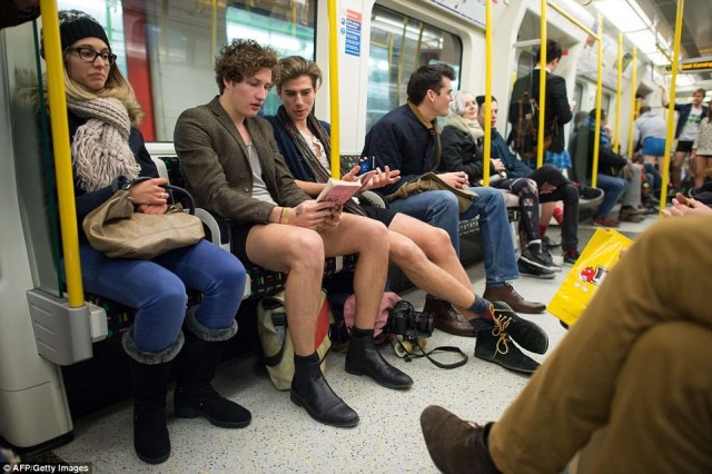 Sideshow Freaks London No Pants Subway Ride - January 2015 - London, Great Britain  sideshow of life sideshow performer  England